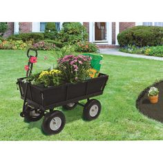 Strongway Multi-Use Dump Cart Yard Garden Steel Wagon Tool 1,200 Lb Capacity New #Strongway