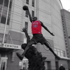 Even the Michael Jordan statue knows it's time to #SeeRed