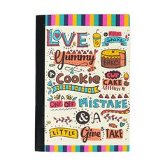 Buy Love Is Yum Notebook Online - Chumbak