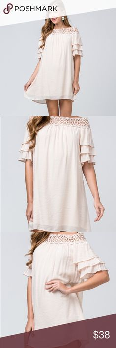1f7957c249 Entro off the shoulder dress! Obsessed with this! Entro off the shoulder  dress!
