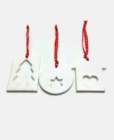 Clay Christmas Decoration Clay Christmas Ornament Minimal