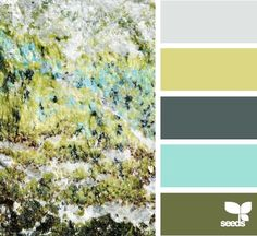 mineral tones - to go in front room with green couch