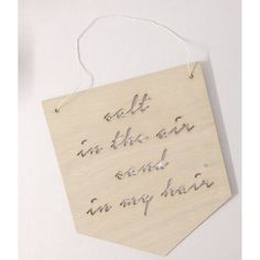 WALL PLAQUE | 'salt in the air...' by zilvi | Cranmore Home
