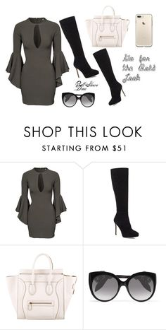 """""""#BellSleeve"""" by oliviaboston ❤ liked on Polyvore featuring John Zack, Jimmy Choo, CÉLINE and Alexander McQueen"""