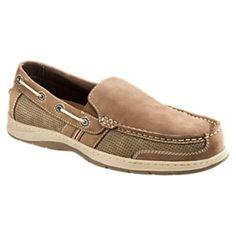 95e965838502 World Wide Sportsman Lake Front Slip On Boat Shoes for Men - Tan - 9.5M