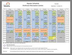 Parkinson Rec pool schedule