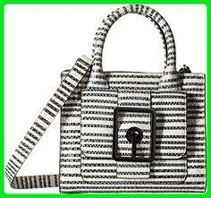 Rebecca Minkoff Women's Hook Up Mini Tote Black/White Snake Handbag - Totes (*Amazon Partner-Link)
