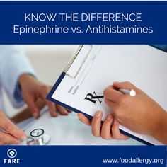 Know the Difference: Epinephrine vs. Antihistamines #anaphylaxis #foodallergy