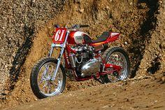 Triumph Bonneville flat track