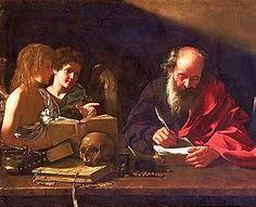 Saint Jerome visited by angels by Bartolomeo Cavarozzi