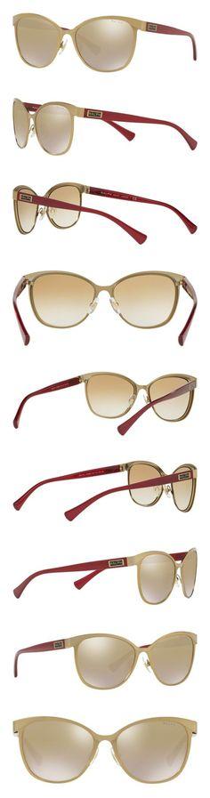 a4bddd36c4a Ralph Lauren Sunglasses Women s 0ra4118 Non-Polarized Iridium Cateye