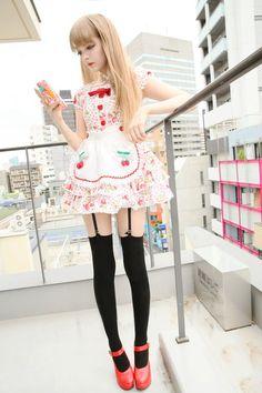 Garota Japonesa Fofa estilo Cosplayer