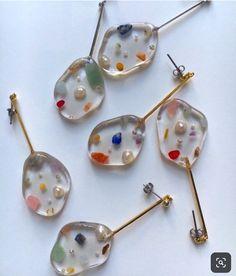 Gold Rings Jewelry, Resin Jewelry, Jewelry Crafts, Jewelry Art, Jewelery, Jewelry Accessories, Diy Resin Art, Diy Resin Crafts, Bijoux Design