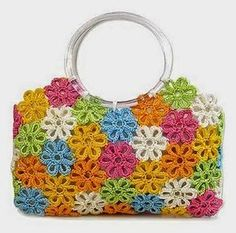 MB Crochê: Bolsa de flores em crochê