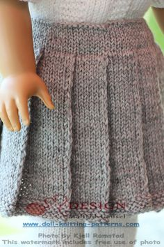 New doll clothes american girl patterns free Ideas Knitting Dolls Clothes, Ag Doll Clothes, Crochet Doll Clothes, Doll Clothes Patterns, Clothing Patterns, Sewing Toys, Diy Clothes, Knitted Doll Patterns, Knitted Dolls