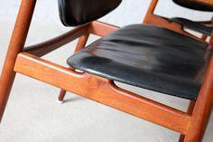 Arne Vodder BO92 Bovirke Teak Armchairs Danish Modern Vintage 4