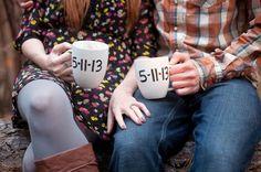 sharpie save the date mugs