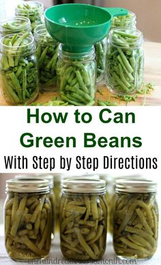 Canning 101 - How to Can Green Beans Well, I did it. I successfully canned green beans in a pressure canner, and I didn't blow up the house either. I totally feel like Olivia Walton right now. In fact I might even go cut up some fabric and sew me a quilt Home Canning Recipes, Canning Tips, Cooking Recipes, Canning Beans, Pressure Canning Green Beans, Canning Green Bean Recipe, Canned Green Bean Recipes, Canned Tomato Recipes, Canning Corn