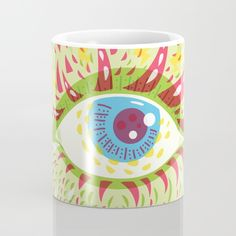 Buy Front Looking Psychedelic Eye Mug by Boriana Giormova. Worldwide shipping available at Society6.com. Just one of millions of high quality products available.
