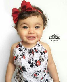 Skyla - 16 Months • Dad: African American • Mom: Mexican & Ecuadorian ❤ FOLLOW @beautifulmixedkids on instagram