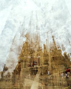 La Sagrada Familia, Barcelona. I love how these multiple exposures have built up - almost looks like a painting! Photo by Doug Keyes
