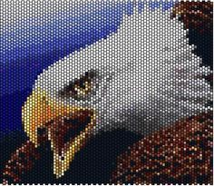 Eagle. Peyote pattern.