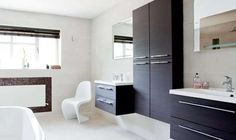 useful  shallow wall-hung cabinets and vanity units by Dansani
