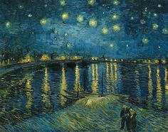 Vincent van Gogh / Starry Night over the Rhone / 1888 / Oil on canvas /  © RMN (Musée d'Orsay)