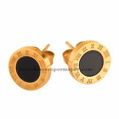 pendiente de numeros en negro dorado de acero