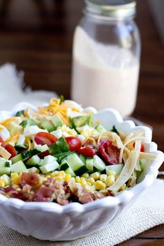 Sweet Basil: Loaded Salad with BBQ Ranch Dressing
