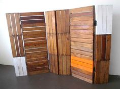 Great use of recycled timbre. Ravishing Wall Separator Ideas on Wall Decor with Wall Divider Ideas Philippines
