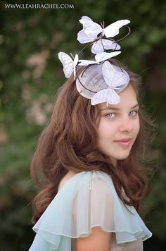 Silver & Grey Butterfly Fascinator by RubyandCordelias on Etsy, $90.00
