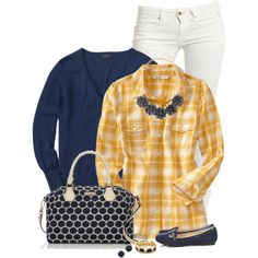 """""""Navy & Yellow"""" by immacherry on Polyvore"""