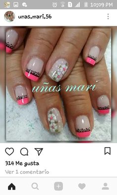 Pretty Nails, Flower Designs, Diy And Crafts, Nail Designs, Nail Art, My Style, Beauty, Food, Designed Nails