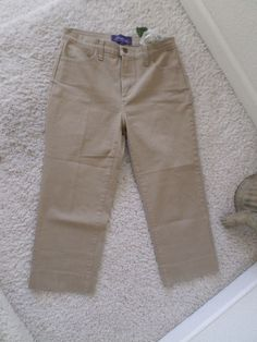 NOT YOUR DAUGHTER'S JEANS CAPRI CAMEL4~NYDJ LIFT TUCK RELAXED FIT CROP 4~95%NEW #NotYourDaughtersJeans #CapriCropped