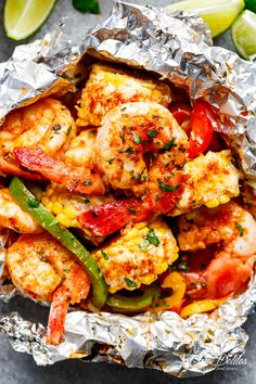 Shrimp & Mexican Corn Foil Packets are filled with Tex-Mex ingredients and flavours, PLUS the addition of creamy Elotes to complete your meal!