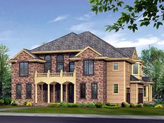 House Plan 87580 | European Traditional Plan with 4370 Sq. Ft., 4 Bedrooms, 5 Bathrooms, 3 Car Garage