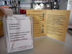 Ora i Versi da bar anche ad Ostuni al Frida art cafè. Per una pulizia a suon di versi.