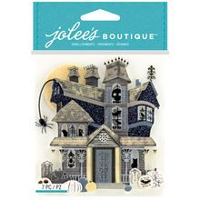 Jolee's Boutique® Stickers, Black and White Haunted House