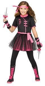Ninja Miss Child Costume - 373769 | trendyhalloween.com