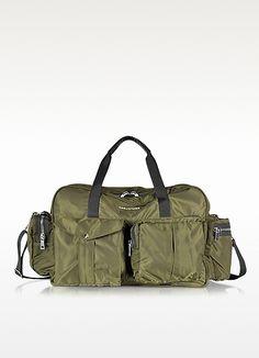 Utilitary Nylon Duffle Bag Khaki