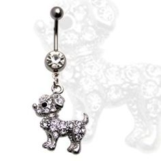 Multi Jewel Cute Puppy