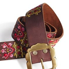 Janet Embroidered Stud Belt - Accessories - Lucky Brand Jeans