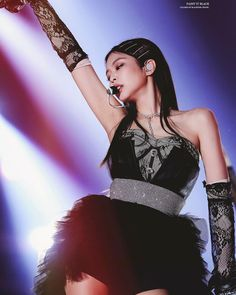 :PaintItBlack for Blackpink' Jennie Blackpink Jennie, Blackpink Outfits, Stage Outfits, Weekly Outfits, Kpop Girl Groups, Korean Girl Groups, Kpop Girls, Forever Young, Black Pink