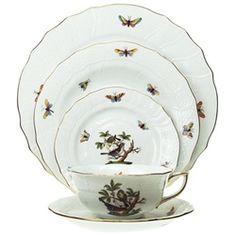 Herend Rothschild Bird, my family's china service