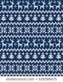 Knitted Christmas and New Year pattern Fair Isle Knitting Patterns, Knit Patterns, Cross Stitch Borders, Cross Stitch Patterns, Yarn Projects, Crochet Projects, Yarn Painting, Scandinavian Pattern, Christmas Knitting