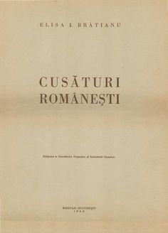 Cusaturi romanesti elena bratianu (planse)