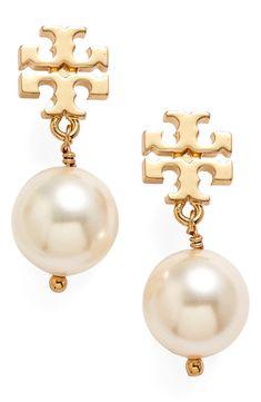 Pearl Drop Earrings, Pearl Jewelry, Statement Earrings, Jewelery, Pearl Necklaces, Stud Earrings, Diy Jewelry, Pendant Necklace, Tory Burch
