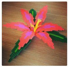 3-D perler hibiscus