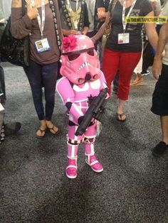 a811cd0227 Little girl proves Stormtroopers look good in pink…